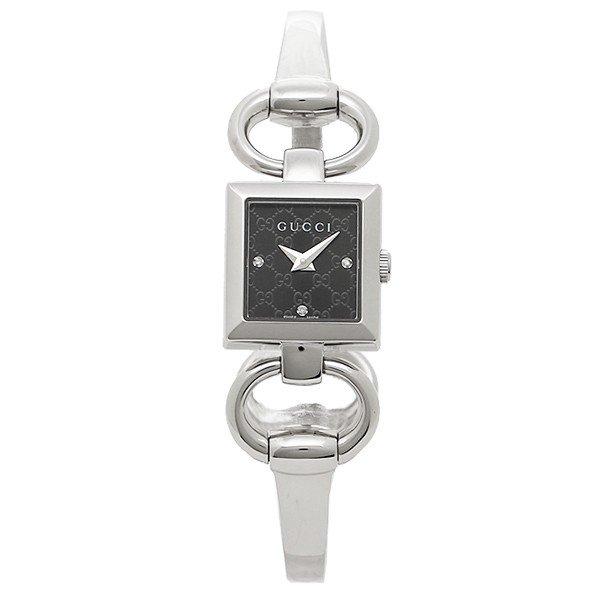 [추가비용없음] 구찌 YA12516 Tornabuoni Bangle Black Silver Ladies Watch