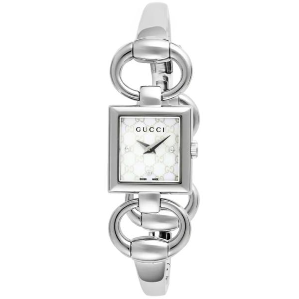 [추가비용없음] 구찌 YA120517 Tornabuoni White Pearl 3P Diamond Ladies Watch