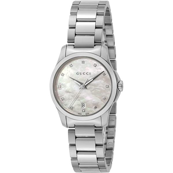 [추가비용없음] 구찌 YA126542 G-Timeless White Shell Ladies Watch
