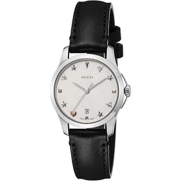 [추가비용없음] 구찌 YA126574 G Timeless 28mm Silver Black Ladies Watch