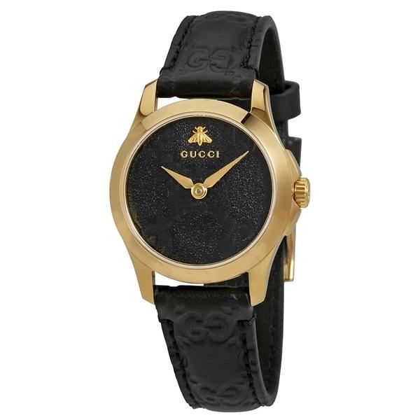 [추가비용없음] 구찌 YA126581 G-Timeless Quartz Black Dial Ladies Watch