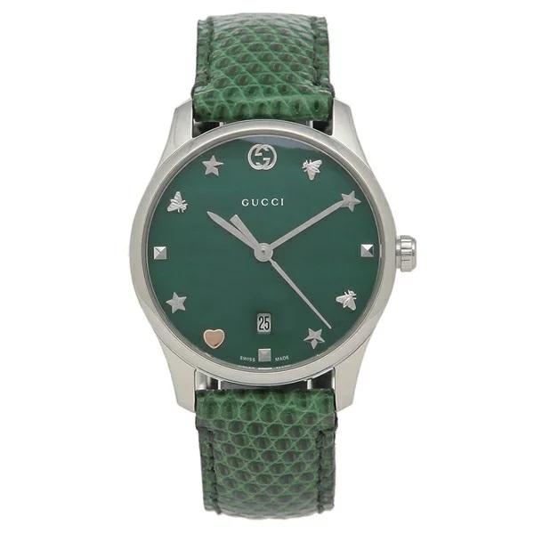 [추가비용없음] 구찌 YA126585 G-Timeless 29MM Ladies Green Watch