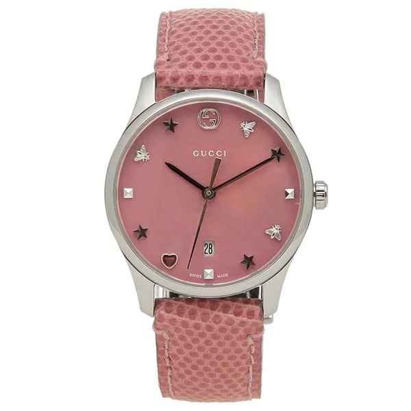 [추가비용없음] 구찌 YA126586 G Timeless Pink Pearl 29mm Ladies Watch
