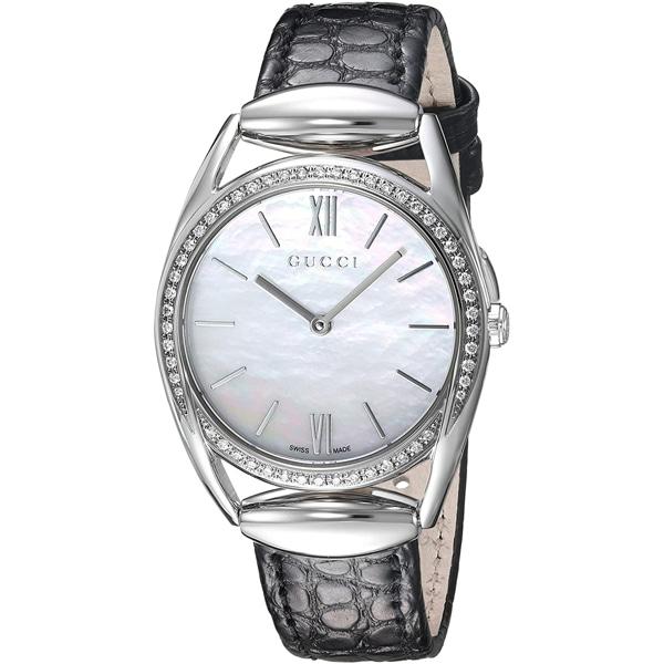 [추가비용없음] 구찌 YA140506 Horsebit Diamond Bezel Quartz Ladies