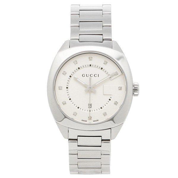 [추가비용없음] 구찌 YA142403 GG2570 Collection 37mm Silver Ladies Watch