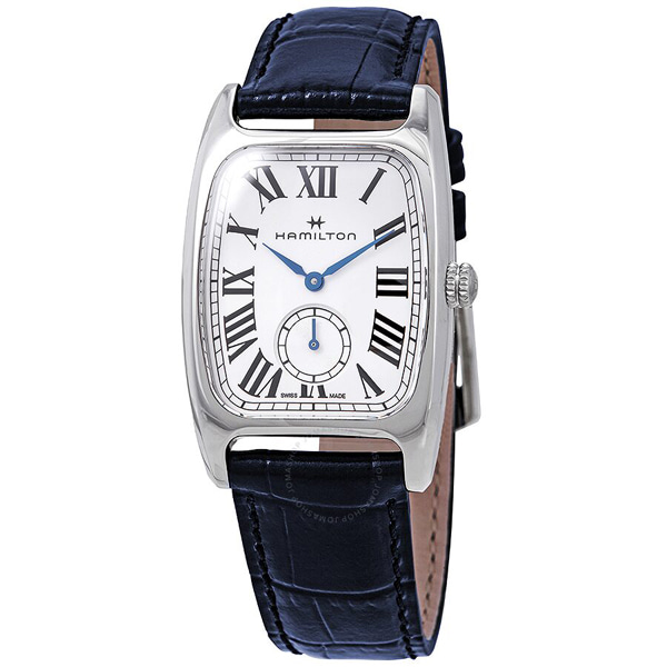 [추가금액없음] 해밀턴 HAMILTON H13321611 Boulton Silver & White Dial Blue Leather Ladies