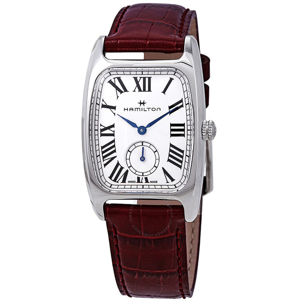[추가금액없음] 해밀턴 HAMILTON H13421811 Boulton Silver Dial Red Leather Ladies Watch