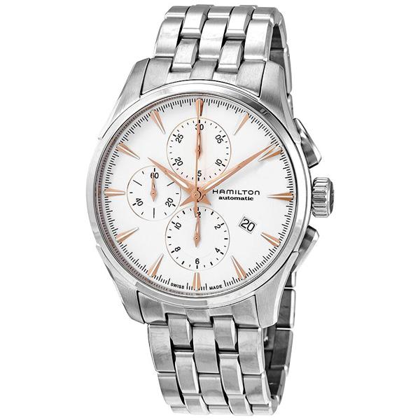 [추가금액없음] 해밀턴 HAMILTON H32586111 Jazzmaster Chronograph Automatic Silver Dial Watch