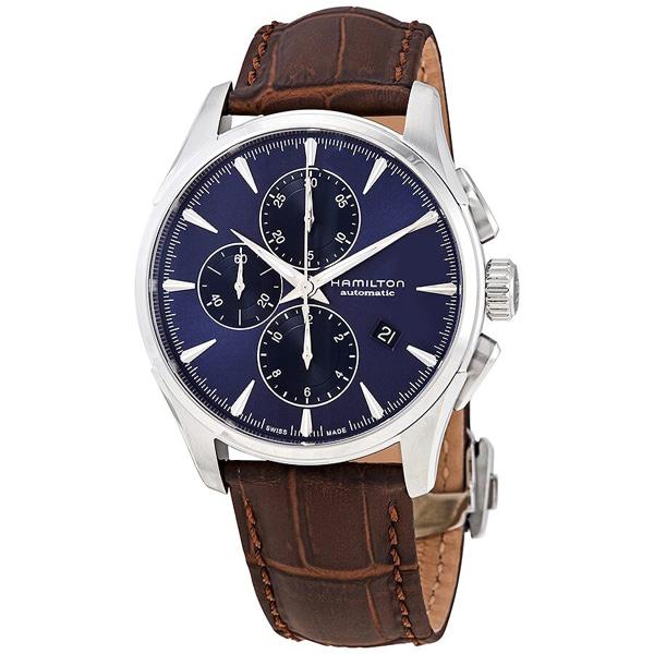 [추가금액없음] 해밀턴 HAMILTON H32586541 Jazzmaster Chronograph Automatic Blue Dial Watch