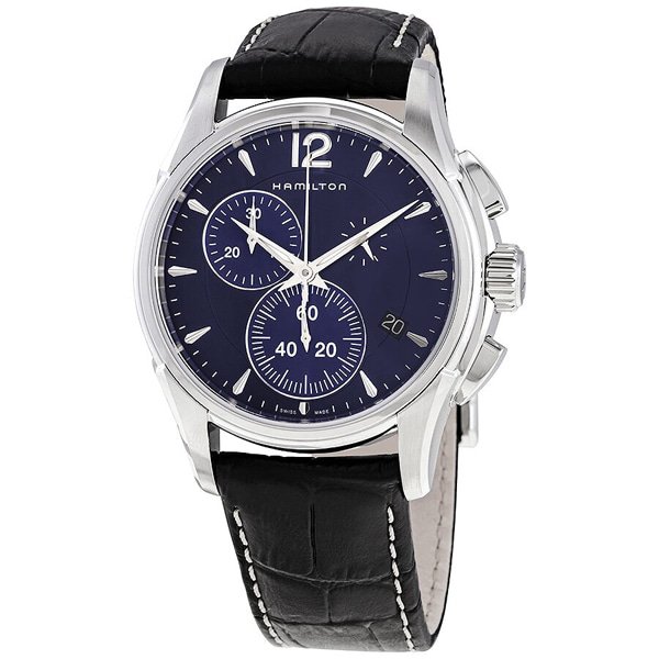 [추가금액없음] 해밀턴 HAMILTON H32612741 Jazzmaster Chronograph Quartz Blue Dial Watch