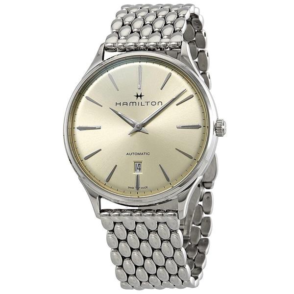 [추가금액없음] 해밀턴 HAMILTON H38525111 Jazzmaster Thinline Automatic Light Tan Dial Watch