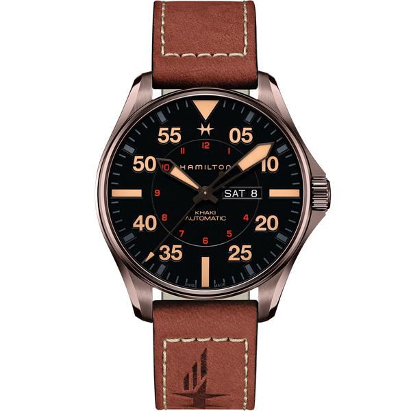 [추가금액없음] 해밀턴 HAMILTON H64705531 Khaki Aviation Pilot Day Date Automatic Automatic 46mm