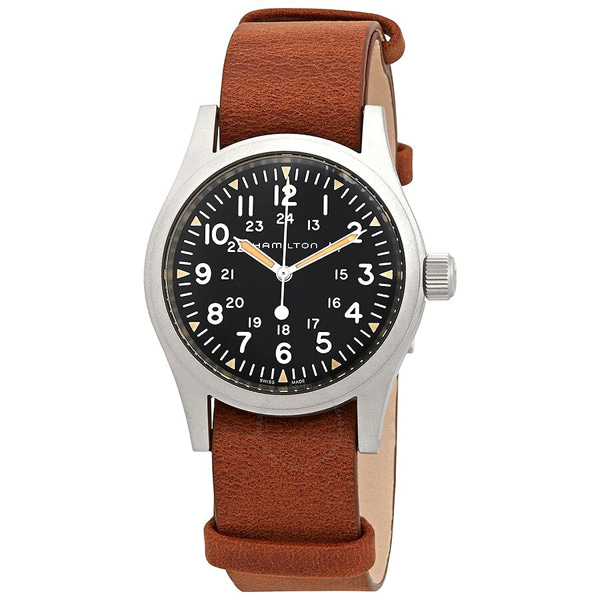 [추가금액없음] 해밀턴 HAMILTON H69439531 Khaki Field Hand Wind Black Dial Mens Watch