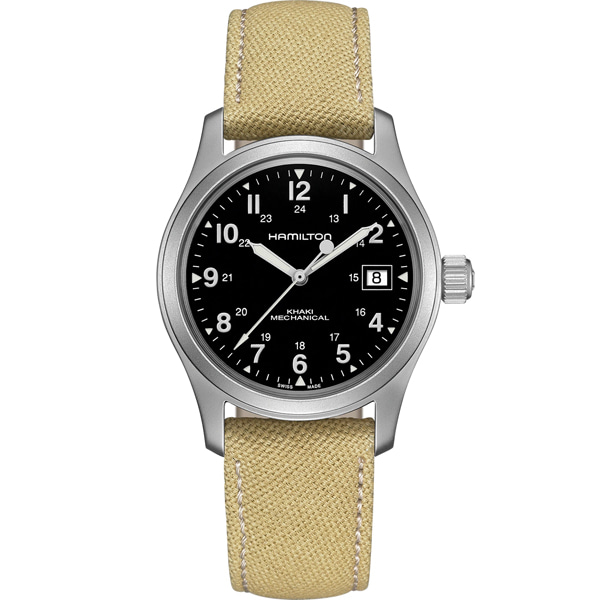 [추가금액없음] 해밀턴 HAMILTON H69439933 Khaki Field Hand Wind Black Dial Men's Watch