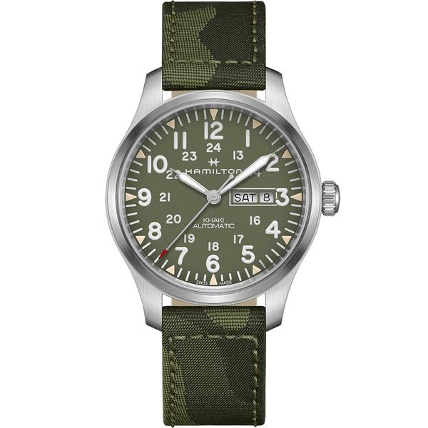 [추가금액없음] 해밀턴 HAMILTON H70535061 Khaki Field Automatic Green Dial Watch