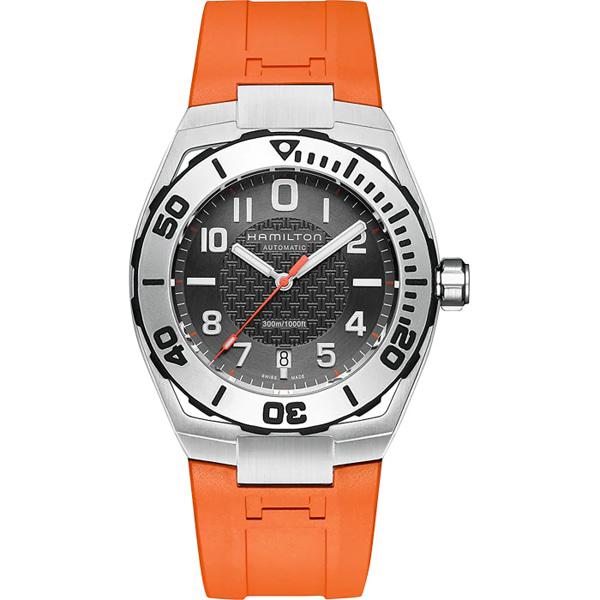 [추가금액없음] 해밀턴 HAMILTON H78615985 Khaki Silicone Wrist Watch