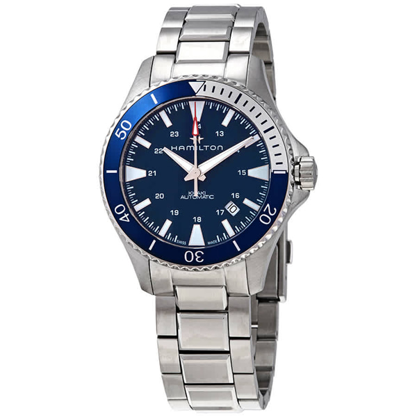 [추가금액없음] 해밀턴 HAMILTON H82345141 Khaki Navy Scuba Automatic Blue Dial Watch