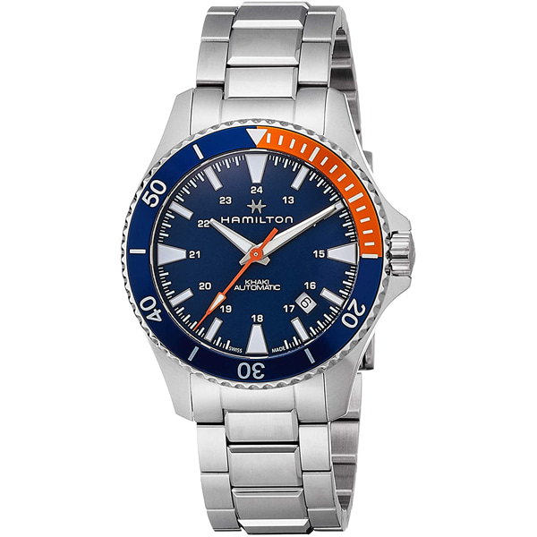 [추가금액없음] 해밀턴 HAMILTON H82365141 Khaki Navy Automatic Blue Dial Watch
