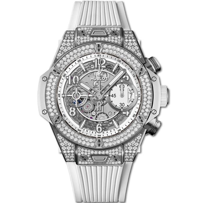 [추가비용없음] 위블로 HUBLOT 441.NE.2010.RW.1704 Big Bang Unico Titanium White Diamonds