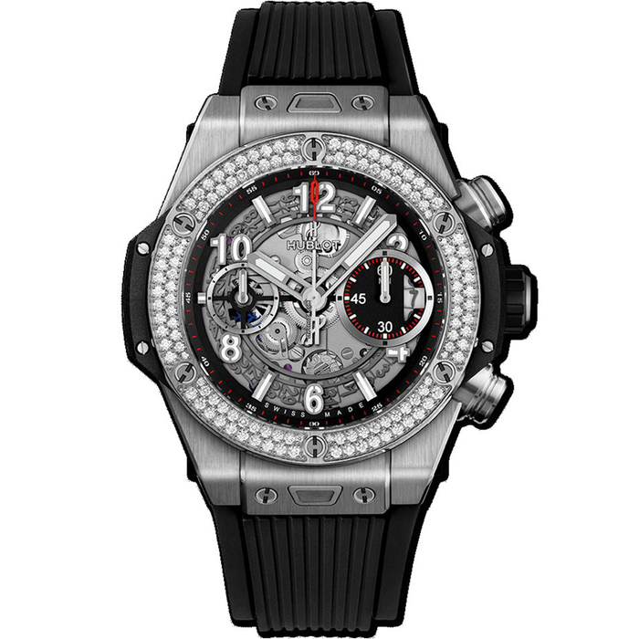 [추가비용없음] 위블로 HUBLOT 441.NX.1170.RX.1104 Big Bang Unico Titanium 42mm 다이아몬드