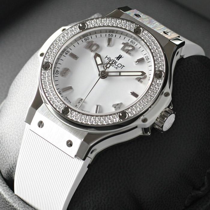 [추가비용없음] 위블로 HUBLOT 361.SE.2010.RW.1104 HUBLOT Big Bang 38mm Steel White Diamond 여성용