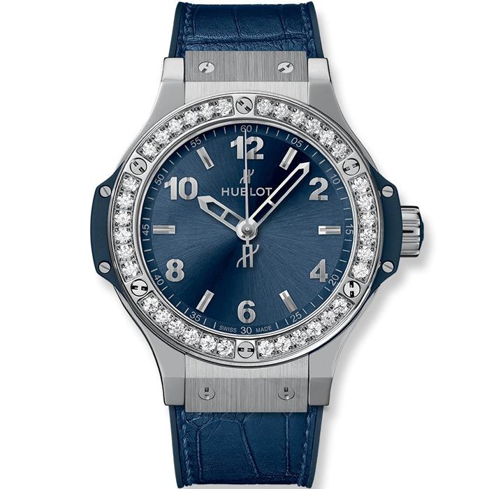 [추가비용없음] 위블로 HUBLOT 361.SX.7170.LR.1204 Big Bang Steel Blue Diamonds 38mm
