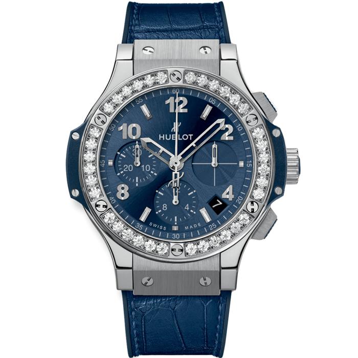 [추가비용없음] 위블로 HUBLOT Big Bang Steel Blue Diamonds 41mm 341.SX.7170.LR.1204