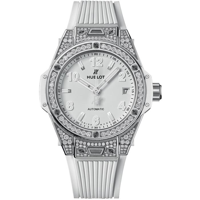 위블로 HUBLOT 465.SE.2010.RW.1204 Big Bang One Click Steel White Diamond 39mm