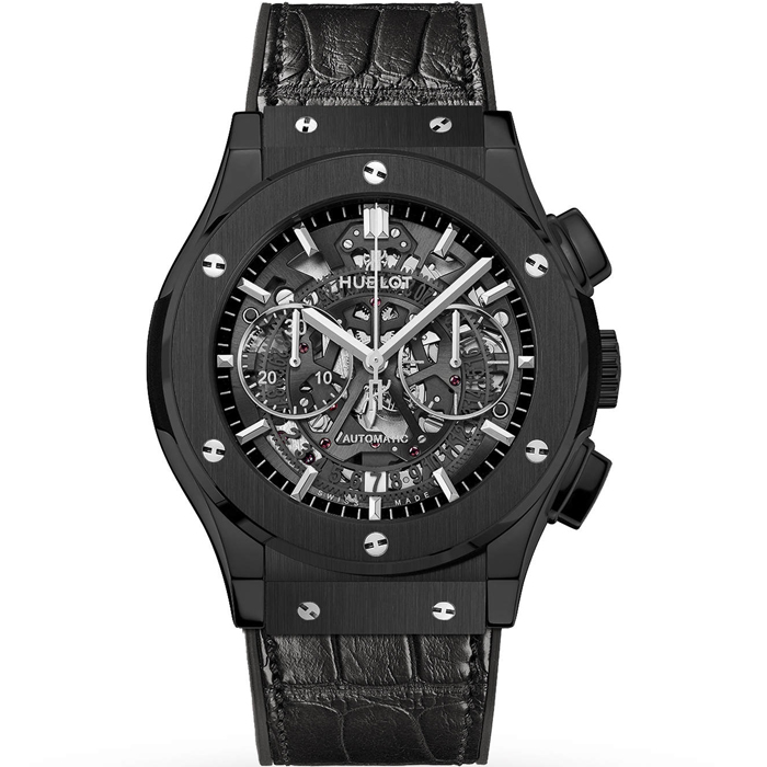 [추가비용없음] 위블로 클래식 퓨젼 HUBLOT 525.CM.0170.LR 45mm Classic Fusion Aero Fusion Chronograph Black Magic