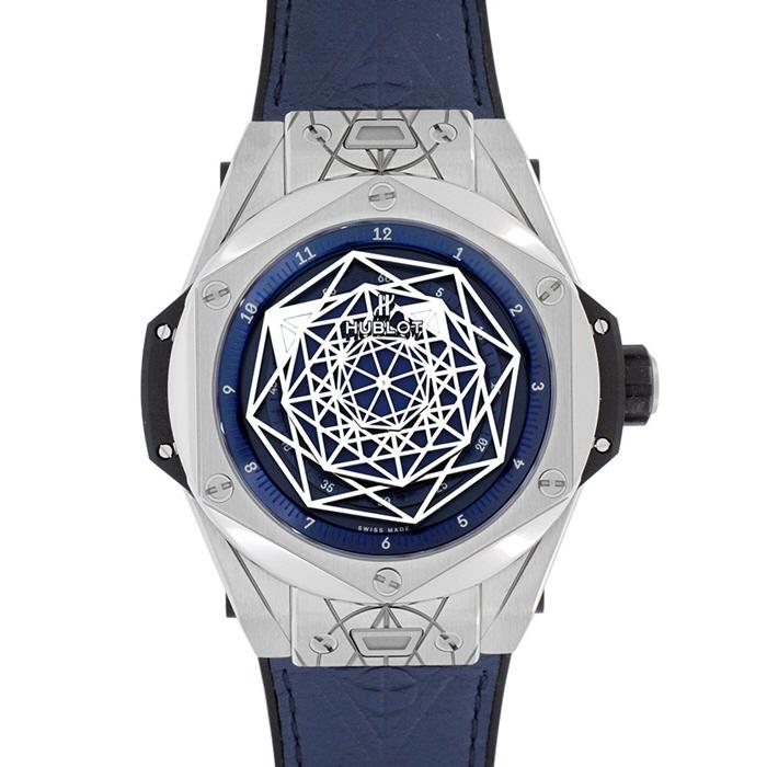 [추가비용없음] 위블로 HUBLOT 415.NX.7179.VR.MXM18 Big Bang Sang Bleu Titanium Blue 45mm