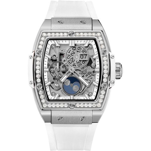 [추가비용없음] 위블로 HUBLOT 스피릿 오브 빅뱅 달의 위상 티타늄 화이트 다이아몬드 647.NE.2070.RW.1204