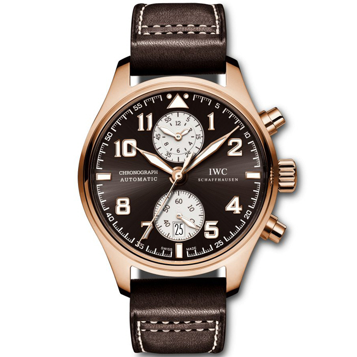 [추가비용없음] IWC IW387805 Pilots Chronograph Edition Antoine de Saint Exupery Rose Gold Mens Watch
