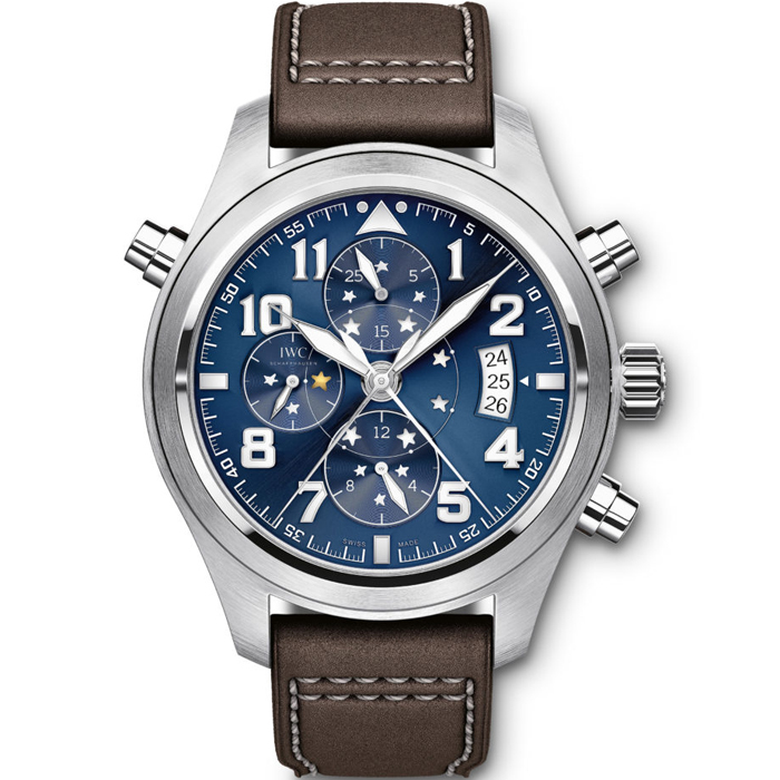 [추가비용없음] IWC IW371807 어린왕자 IWC Pilots Watch Double Chronograph Le Petit Prince