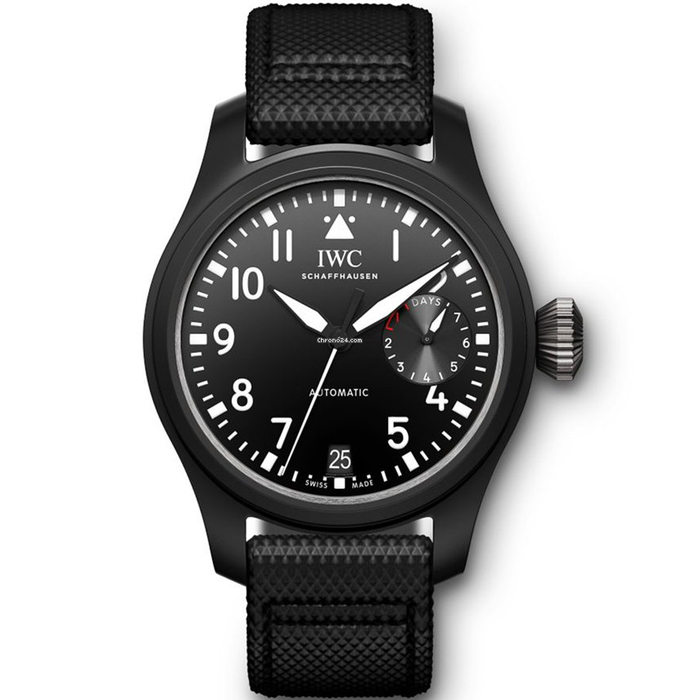 [추가비용없음] IWC Big Pilot Top Gun Automatic Black Dial Mens Watch IW502001
