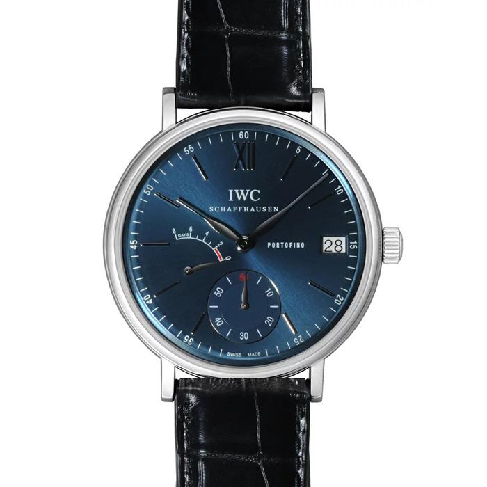 [추가비용없음] IWC IW510106 Portofino Blue Dial Black Leather IW510106 남성