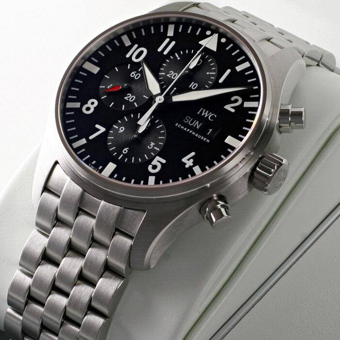 [추가비용없음] IWC IW377710 Pilot Black Dial Automatic Chronograph