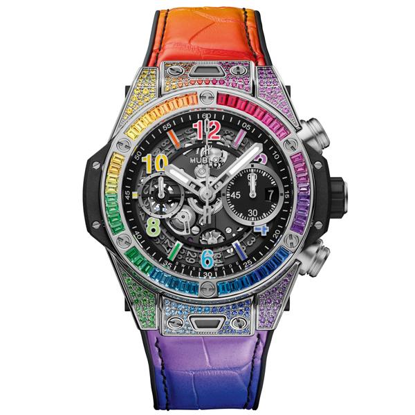 위블로 HUBLOT 441.NX.1117.LR0999 빅뱅 Unico Titanium Rainbow 441.NX.1117.LR.0999