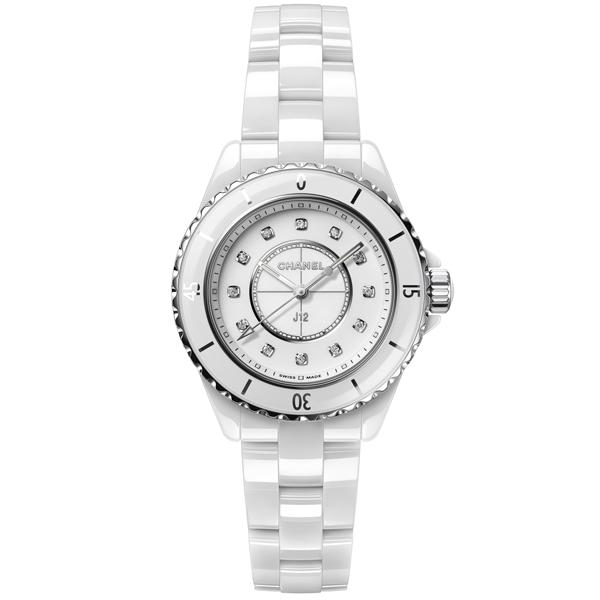 [추가비용없음] Chanel J12 H5703 샤넬 화이트 세라믹 다이아몬드 H5703 인덱스 33mm