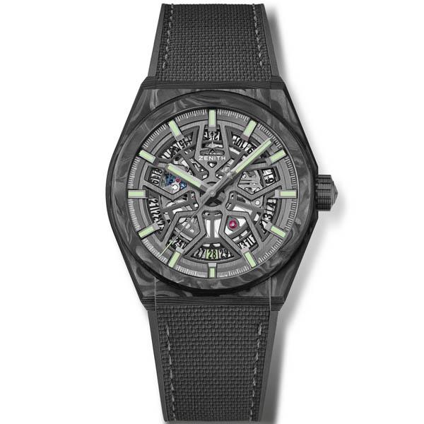 [추가비용없음] 제니스 ZENITH 10.9000.670/80.R795 DEFY Classic Carbon 41mm