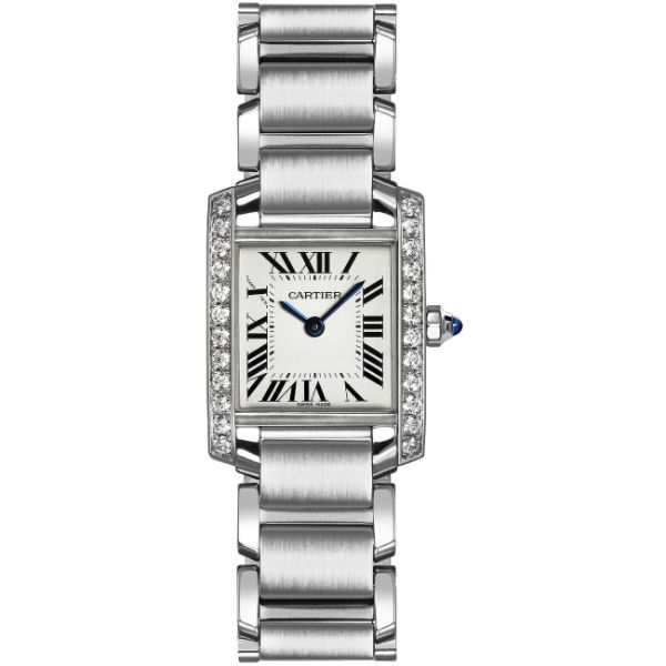 [추가금액없음] 까르띠에 W4TA0308 Cartier Tank Francaise Silver Dial Womens Watch