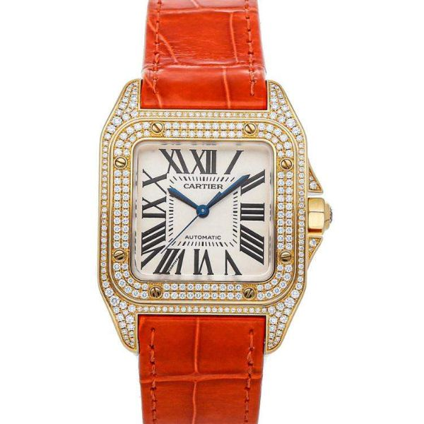 [추가비용없음] 까르띠에 시계 Cartier WM502051 Cartier Santos 100 Medium Mod