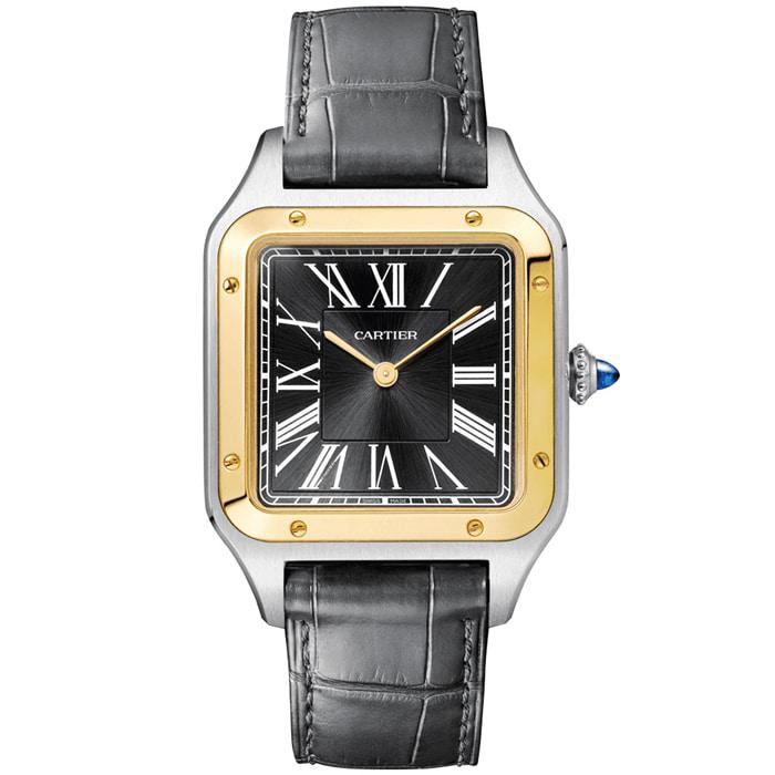 [추가비용없음] 까르띠에 Cartier W2SA0015 산토스 뒤몽 라지 쿼츠 43.5mm