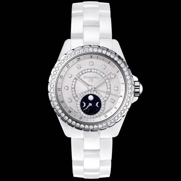 [추가비용없음] 샤넬 CHANEL H3405 J12 Moon Phase CERAMIC 38mm