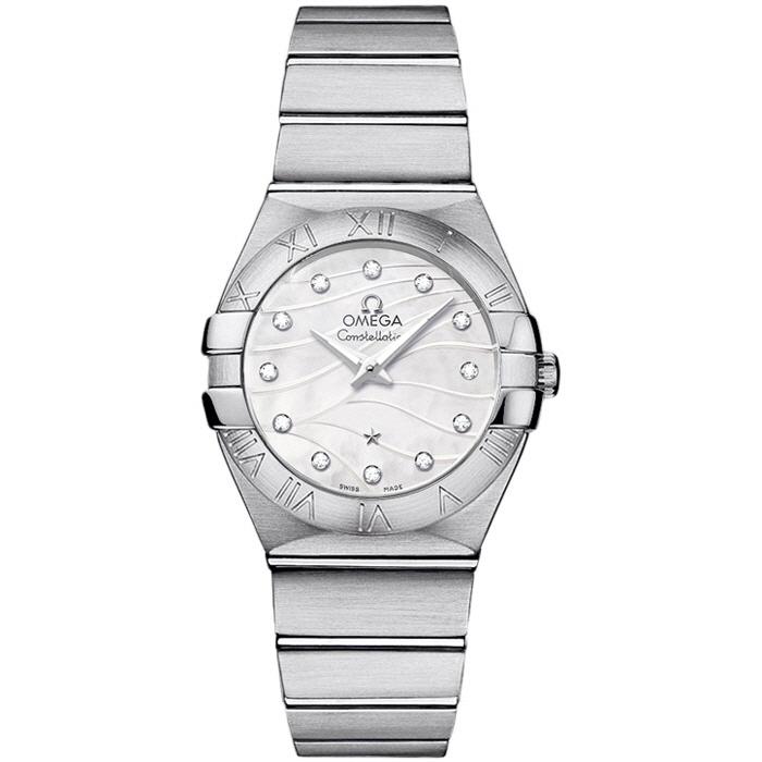 [추가비용없음] 오메가 OMEGA 123.10.27.60.55.003 Constellation Mother of Pearl Diamond Dial 여성