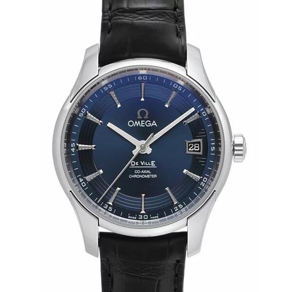 [추가비용없음] 오메가 OMEGA 431.33.41.21.03.001 DeVille Blue Dial Black Leather