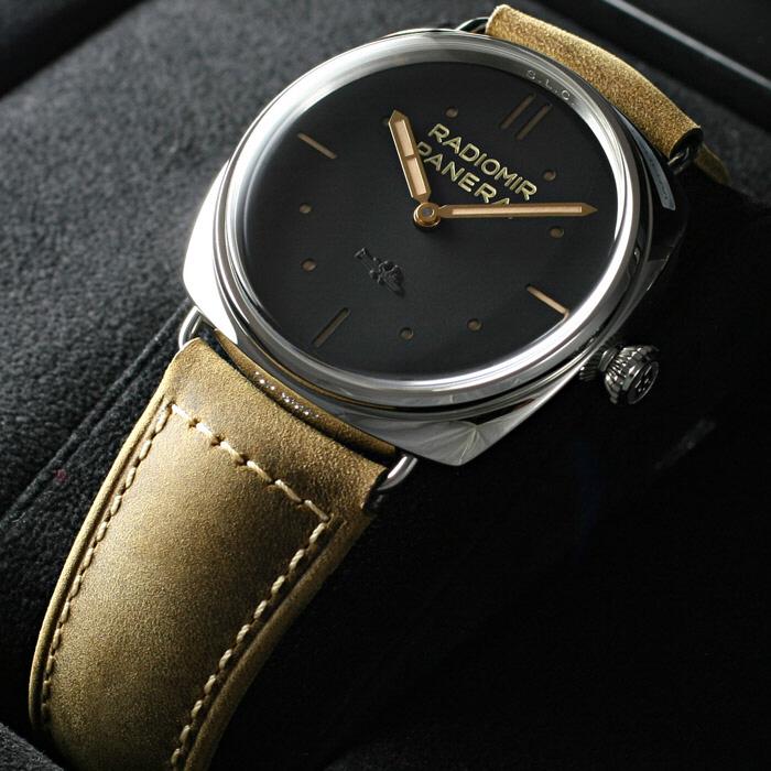 [추가비용없음] 파네라이 PANERAI Radiomir SLC 3 Days Mechanical Black Dial Mens Watch PAM00425