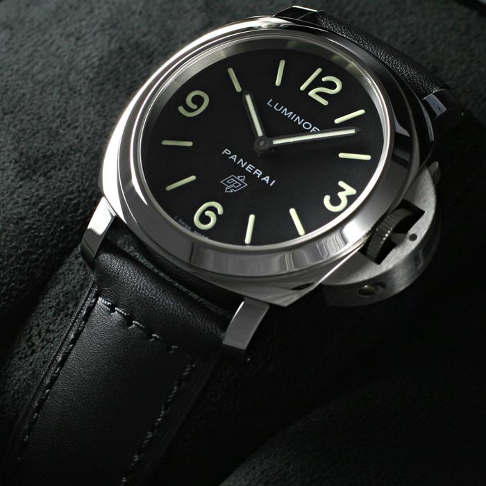 [추가비용없음] 파네라이 PANERAI PAM01000 Luminor Base Logo Acciaio Black Dial