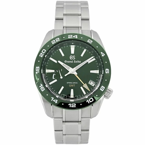 [추가비용없음] SEIKO SBGE257 Grand Green Dial Spring Drive GMT Men's Watch