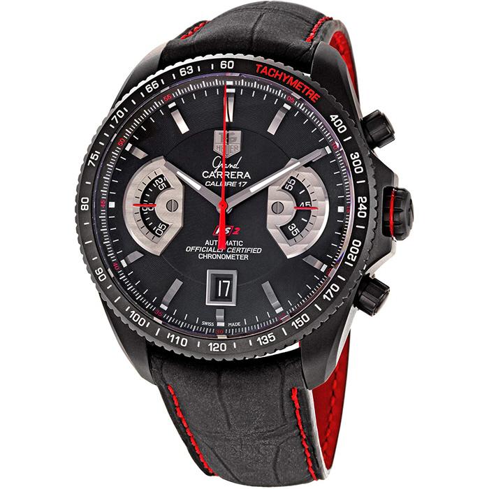 [추가비용없음] 태그호이어 TAG Heuer CAV518B.FC6237 Grand Carrera Leather Strap Chronograph