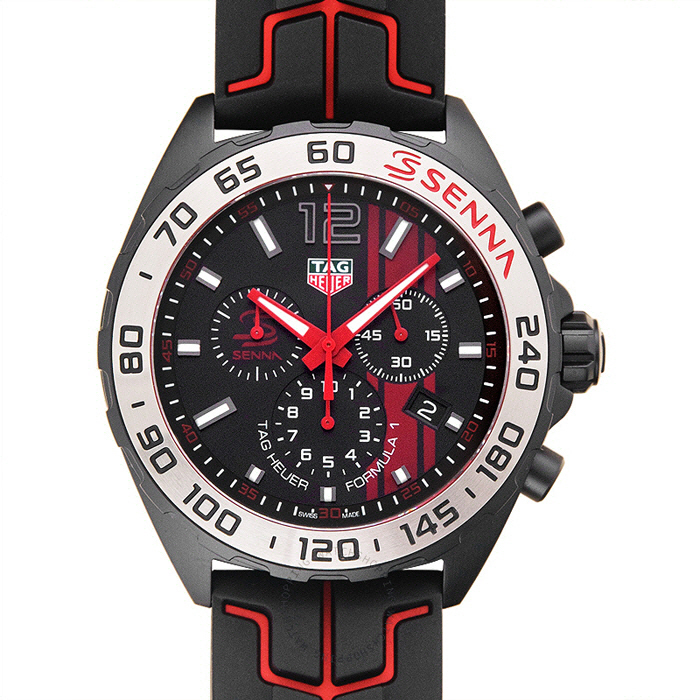[추가비용없음] 태그호이어 TAG Heuer CAZ1019.FT8027 Formula 1 Chronograph Aylton Senna Edition 43mm